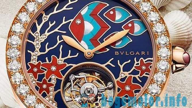 Jewelry gardens on new dials Bulgari