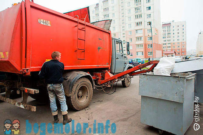 One day the garbage truck driver