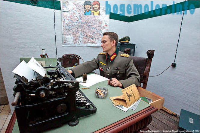 In the bunker of the German general