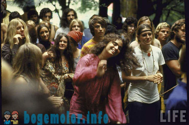 The famous rock festival Woodstock 1969