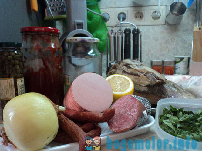 Recipes on weekends - Salt meat
